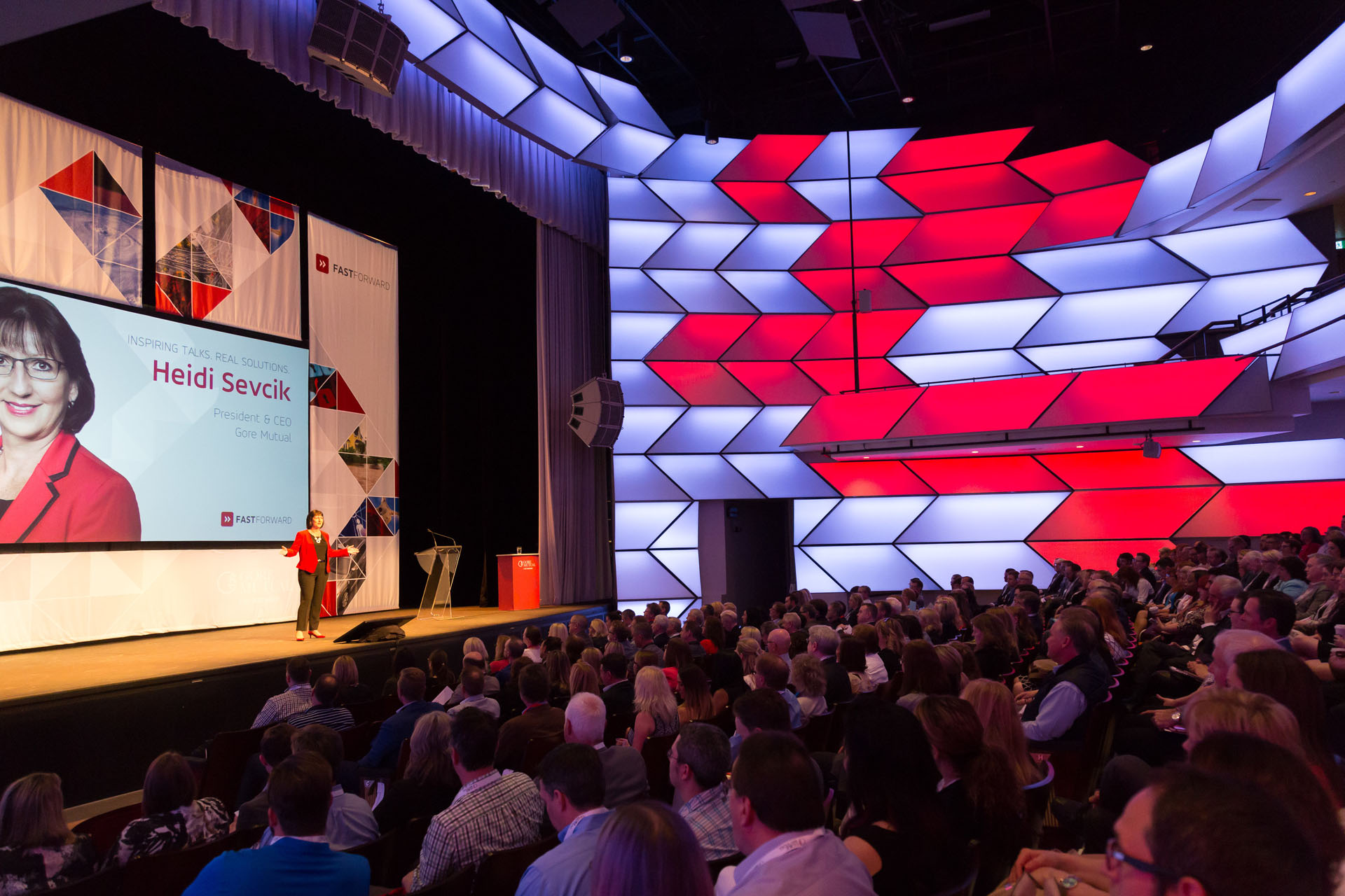 Picture of Heidi Sevcik presenting in front of crowed